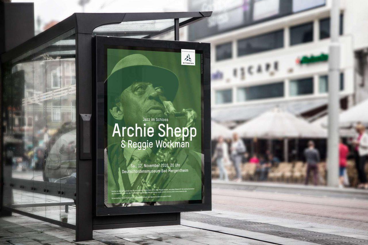 Plakat Archie Shepp Kultur Bad Mergentheim