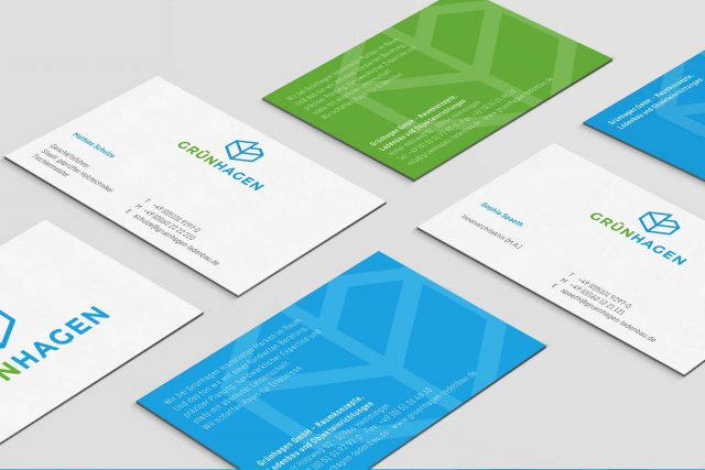 Formstabil Business card design Gruenhagen Gestaltungsprinzip Branding