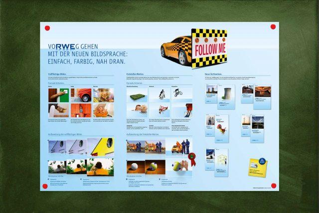 RWE Plakat Bildstil Layout Gestaltung