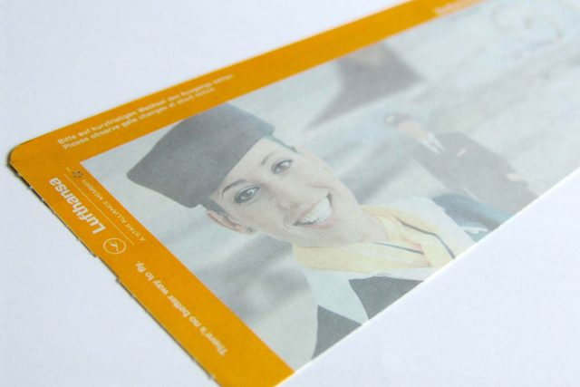 Boarding Pass Bordkarte Lufthansa