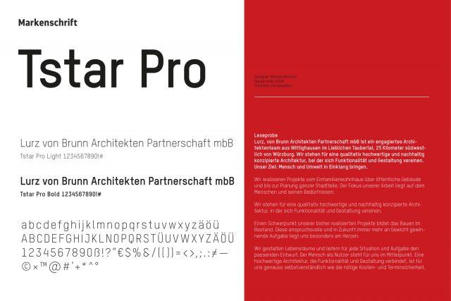 Übersicht Markenschrift und Typografie