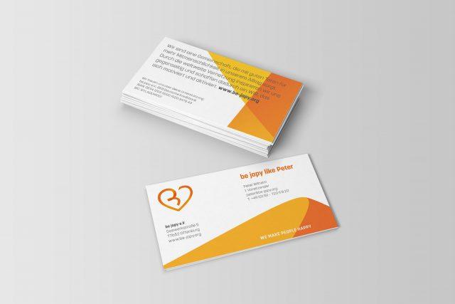Business cards be japy e.V.