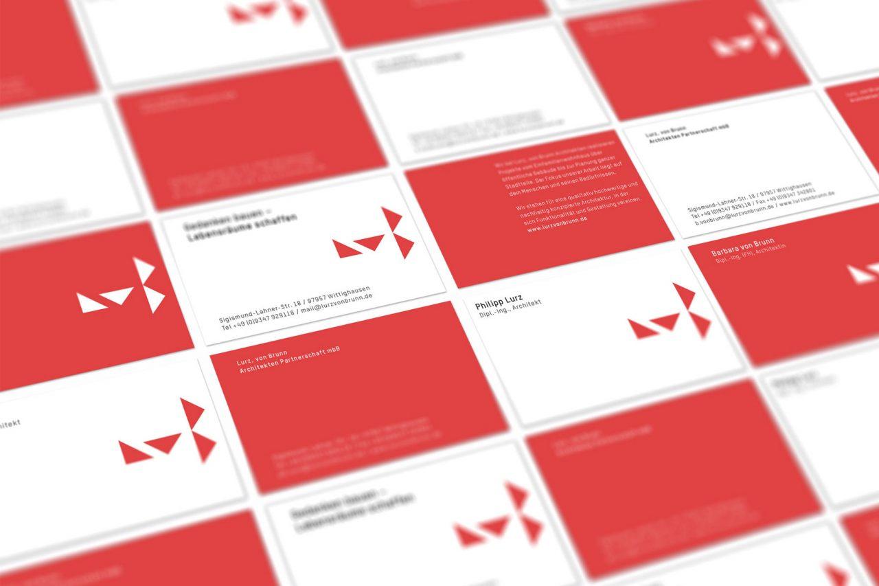 Visitenkarten Lurz, von Brunn Architekturbuero