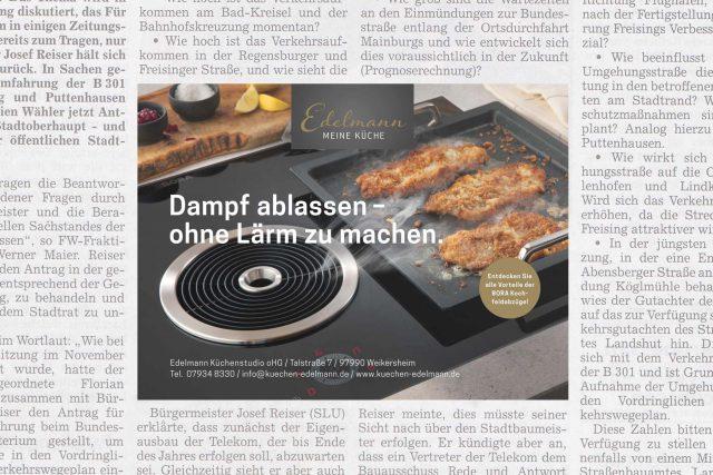 Kommunikation Kuechenstudio Edelmann Anzeige