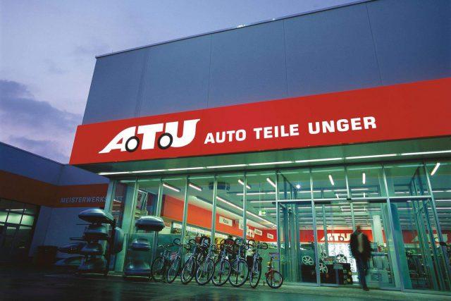 A.T.U Kennzeichnung Fassadenband Filiale