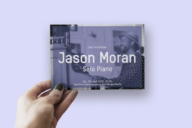 Postkarte mit Jazzmotiv Jason Moran Würzburg Bad Mergentheim