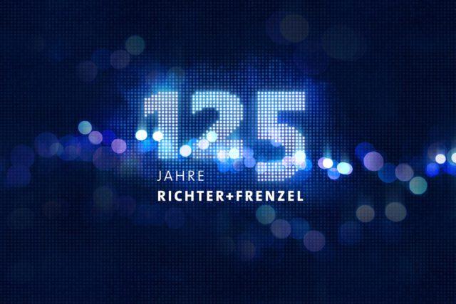 Signet für 125 Jahre-Jubiläum Richter+Frenzel