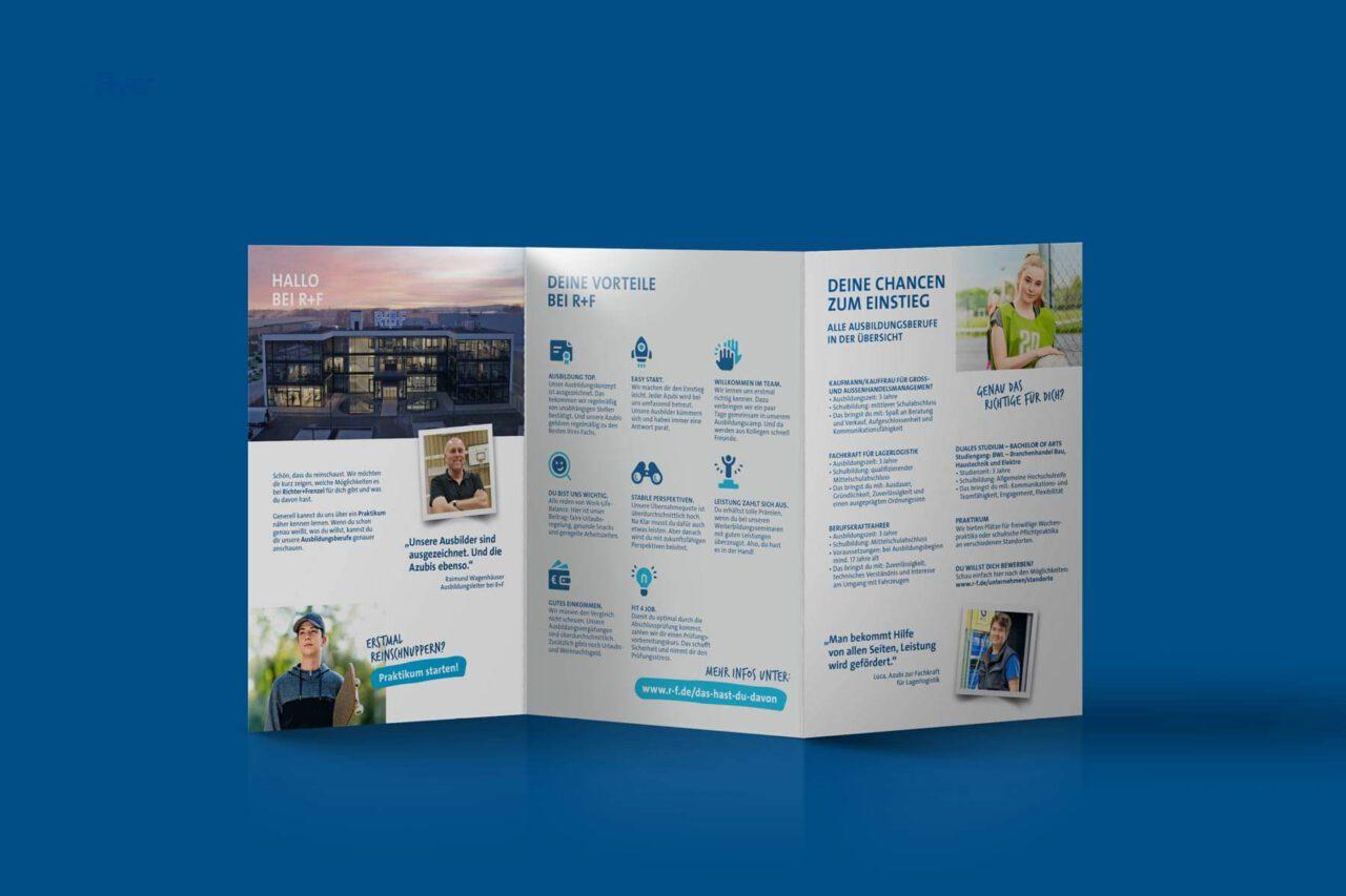 DIN A5 Broschüre mit Informationen zu den Azubistellen
