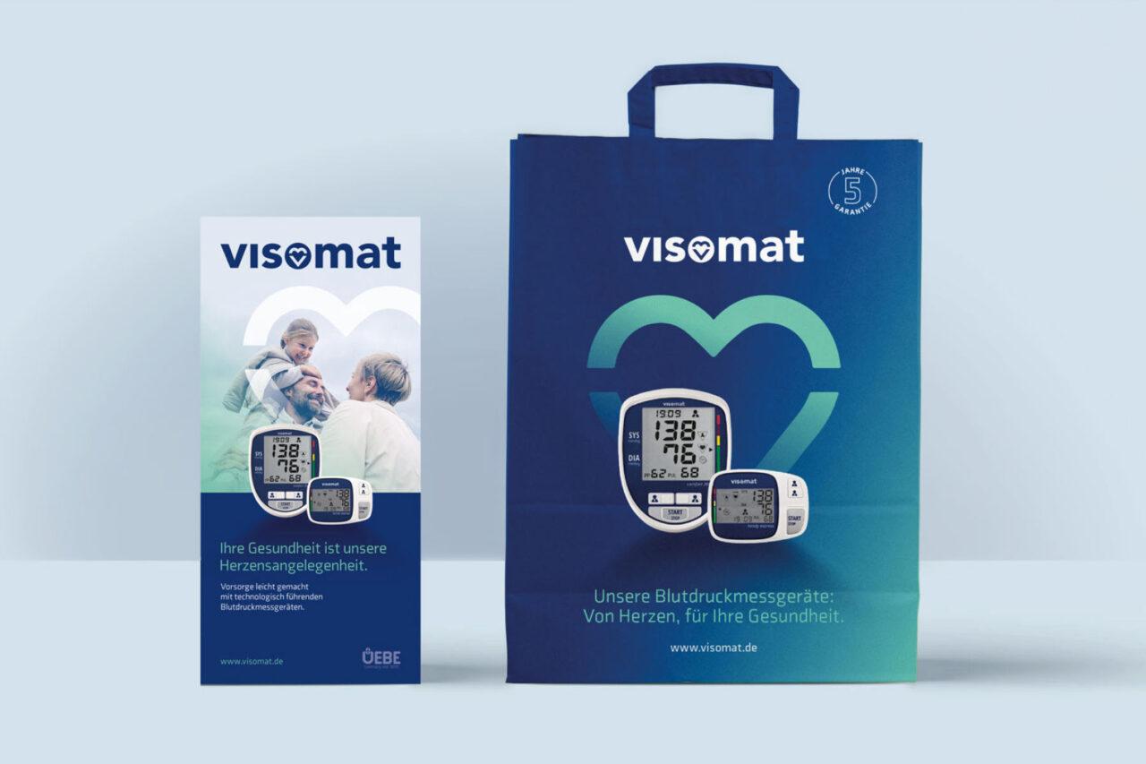Uebe Medical visomat Flyer und Papiertasche